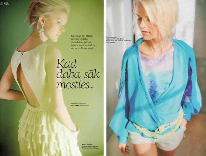 Stila fotogrāfijas žurnālam Una - marts