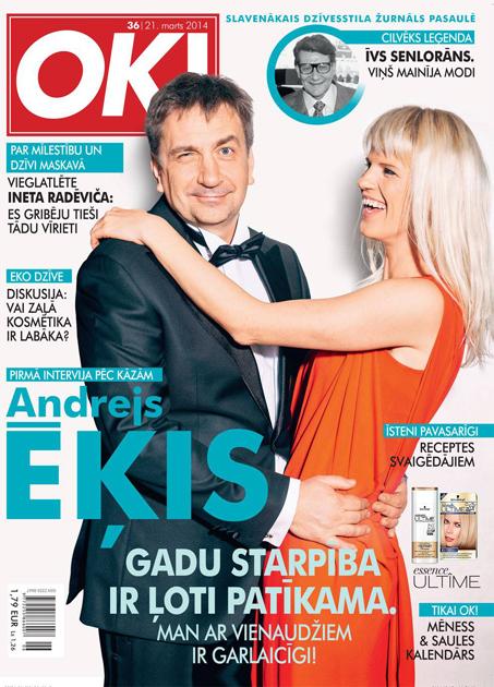 Andrejs Ēķis un Daina Gāga žurnālam OK!