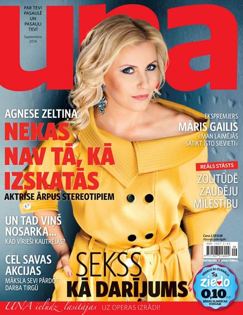 Agnese Zeltiņa žurnālam Una