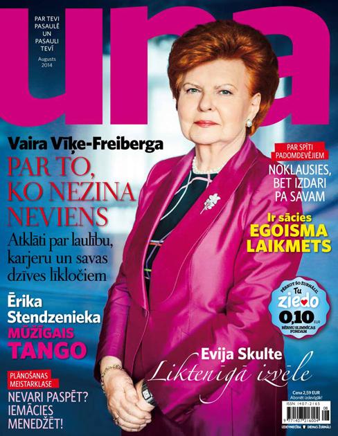 Vaira Vīķe-Freiberga žurnālam Una