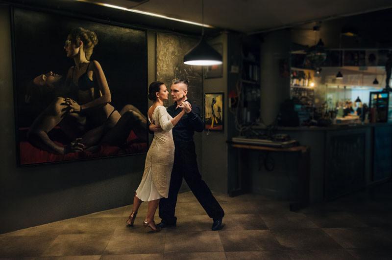 Men Dancing Tango
